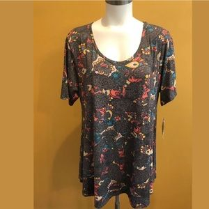 LuLaRoe perfect t XL coral paisley